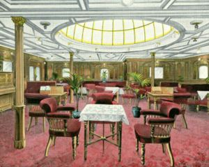 Second Class Smoking Lounge, where Mannion was playing cards when the torpedo struck.